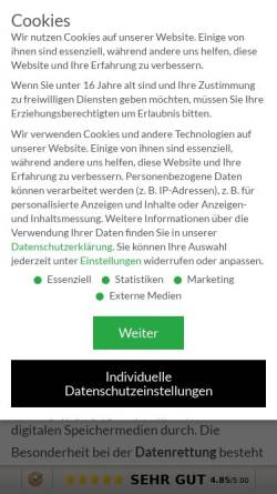 Vorschau der mobilen Webseite www.datarecovery-datenrettung.de, DATARECOVERY®