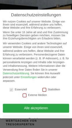 Vorschau der mobilen Webseite tresor-schutz.de, TresorXperten - Fuchs und Thumann GbR