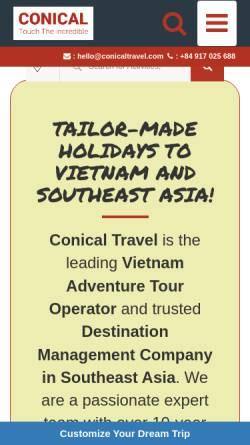 Vorschau der mobilen Webseite www.conicaltravel.com, Conical Travel