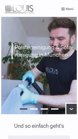 Vorschau der mobilen Webseite polsterreinigung-louis.de, Louis UG (haftungsbeschränkt)
