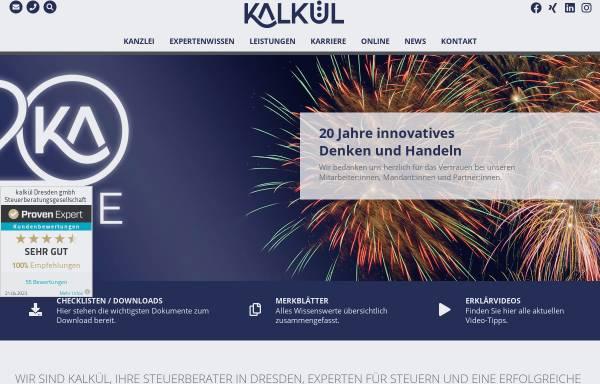 Vorschau von kalkuel.de, kalkül Dresden gmbh