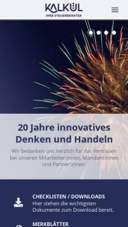 Vorschau der mobilen Webseite kalkuel.de, kalkül Dresden gmbh
