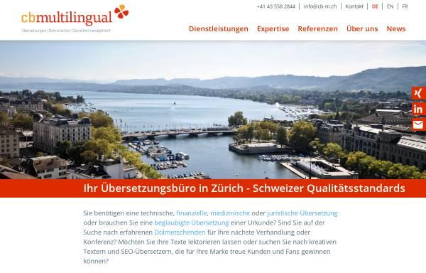 Vorschau von www.cb-m.ch, CB Multilingual GmbH