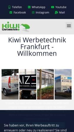 Vorschau der mobilen Webseite www.kiwi-werbetechnik.de, Kiwi Werbetechnik