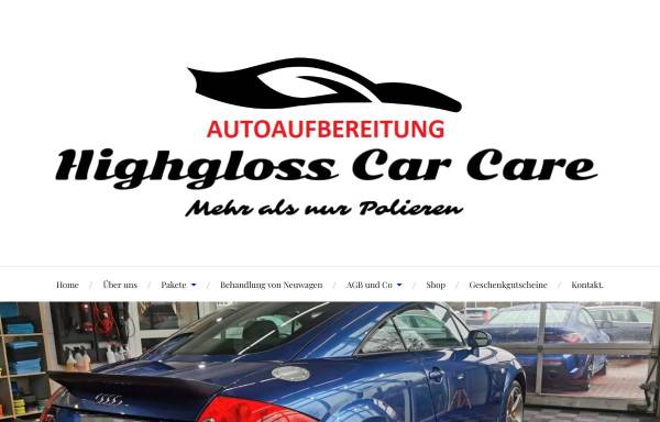 Vorschau von www.highgloss-carcare.eu, Highgloss car care