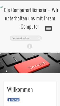 Vorschau der mobilen Webseite computerfluesterer.de, Die Computerflüsterer