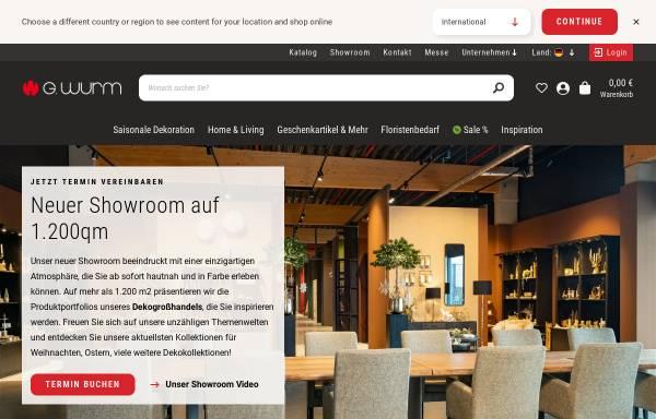 Vorschau von www.wurmkg.de, G. Wurm GmbH + Co. KG