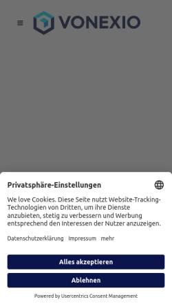 Vorschau der mobilen Webseite vonexio.com, VONEXIO GmbH