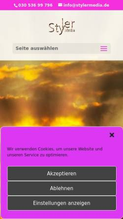 Vorschau der mobilen Webseite stylermedia.de, StylerMedia