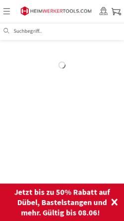 Vorschau der mobilen Webseite www.heimwerkertools.com, Heimwerkertools Handelsgesellschaft m.b.H.