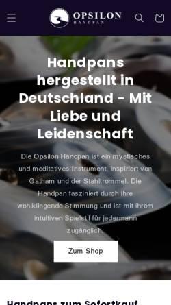 Vorschau der mobilen Webseite opsilon.de, Opsilon Instruments