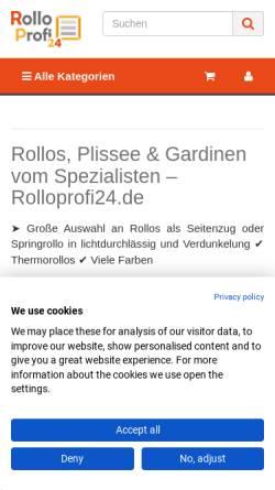 Vorschau der mobilen Webseite www.rolloprofi.de, Torsten Lang UG (haftungsbeschränkt)