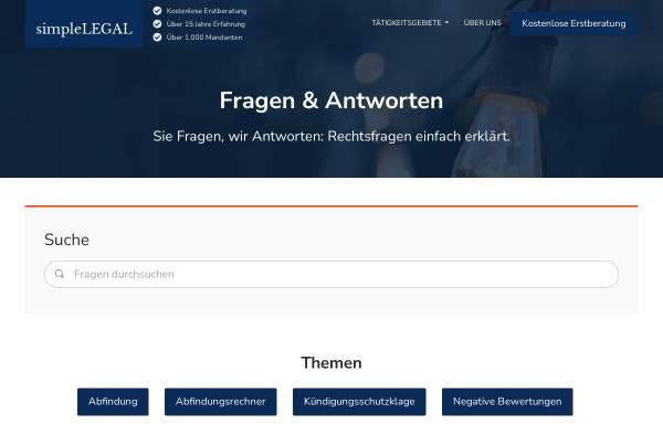 Vorschau von simplelegal.de, simpleLEGAL: Rechtsfragen einfach erklärt
