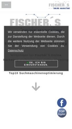 Vorschau der mobilen Webseite www.fischers-onlinemarketing.org, Fischer´S Online Marketing