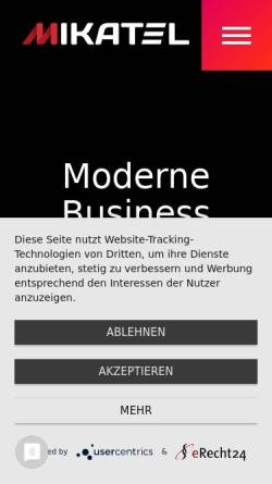 Vorschau der mobilen Webseite mikatel.de, MIKATEL GmbH