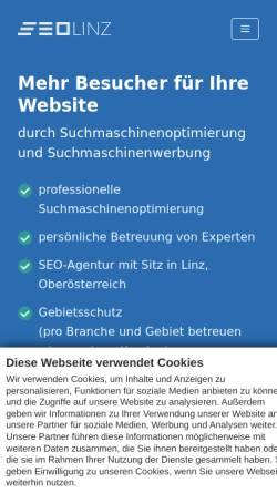 Vorschau der mobilen Webseite seo-linz.at, SEO Agentur Linz