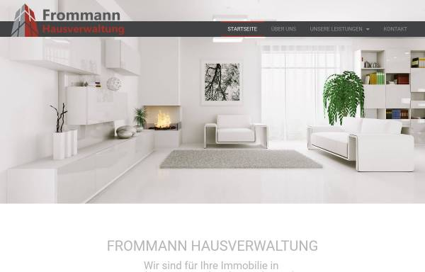 Vorschau von www.frommann-hausverwaltung.de, Frommann Hausverwaltung GmbH