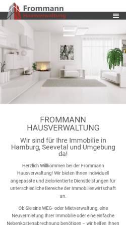 Vorschau der mobilen Webseite www.frommann-hausverwaltung.de, Frommann Hausverwaltung GmbH