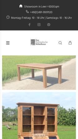 Vorschau der mobilen Webseite dashollaendischemoebelhaus.de, DHM Das Holländische Möbelhaus GmbH