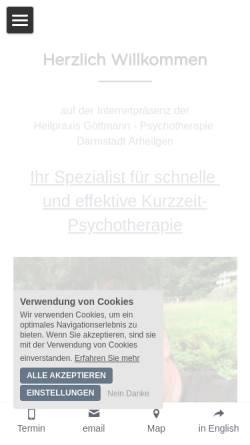 Vorschau der mobilen Webseite www.heilpraxis-goettmann.de, Heilpraxis Göttmann