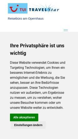 Vorschau der mobilen Webseite reisebuero-am-opernhaus.de, TUI TRAVELStar