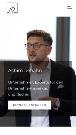 Vorschau der mobilen Webseite achim-rehahn.com, Achim Rehahn