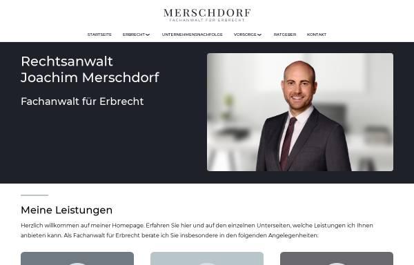 Vorschau von www.ra-merschdorf.de, Rechtsanwalt Merschdorf