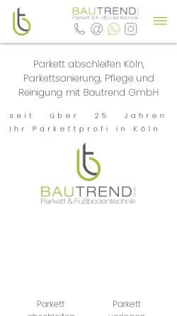 Vorschau der mobilen Webseite www.bautrend.de, Bautrend GmbH