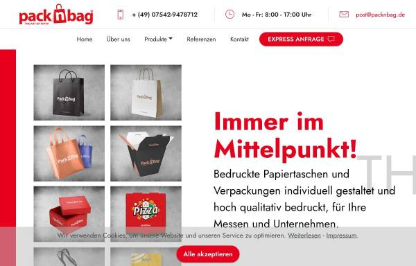 Vorschau von packnbag.de, Packnbag - BCB Media GmbH