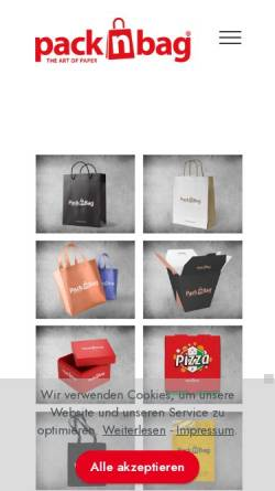 Vorschau der mobilen Webseite packnbag.de, Packnbag - BCB Media GmbH