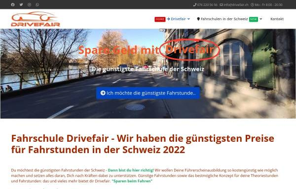 Vorschau von www.drivefair.ch, Fahrschule Drivefair