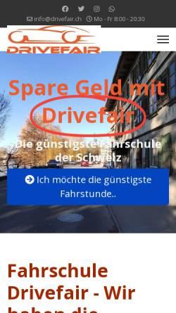 Vorschau der mobilen Webseite www.drivefair.ch, Fahrschule Drivefair