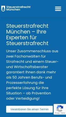 Vorschau der mobilen Webseite www.steuerstrafrecht-münchen.de, Michael Barleben