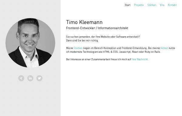 Vorschau von www.timokleemann.de, Timo Kleemann - DesignBits GbR