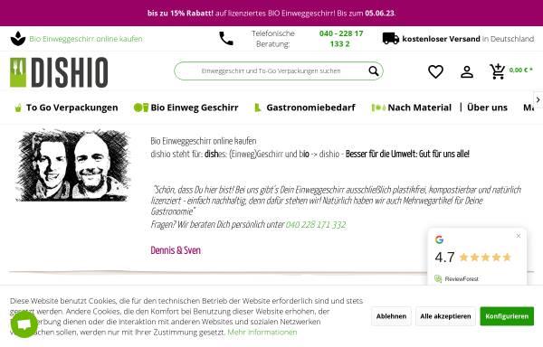 Vorschau von einweggeschirr-bio.de, dishio