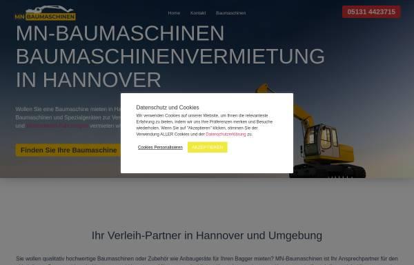Vorschau von mn-baumaschinen.de, MN-Baumaschinen