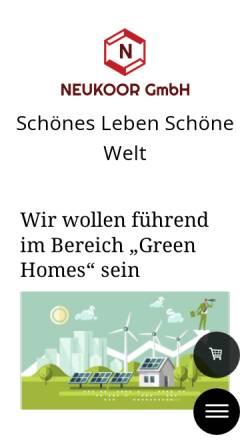 Vorschau der mobilen Webseite www.neukoor.de, NEUKOOR GmbH