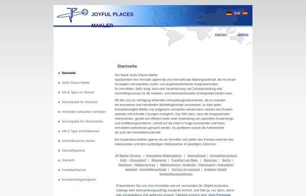 Vorschau von www.joyful-places.com, Joyful Places Makler Unternehmergesellschaft (haftungsbeschränkt) & Co. Kg