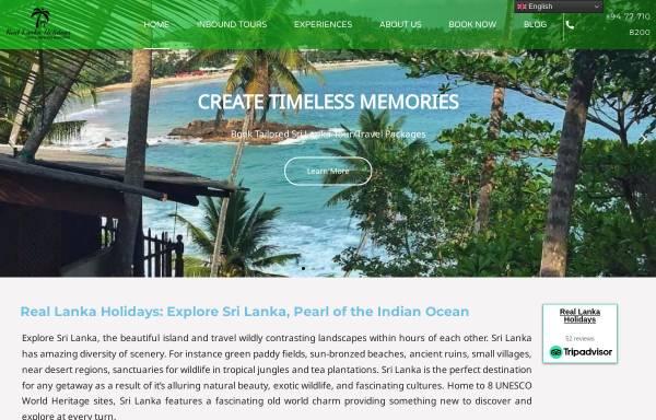 Vorschau von rlholidays.com, Real Lanka Holidays Pvt Ltd