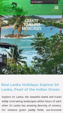 Vorschau der mobilen Webseite rlholidays.com, Real Lanka Holidays Pvt Ltd