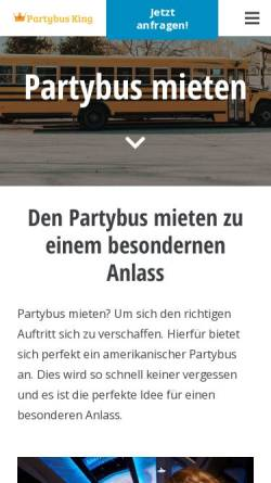 Vorschau der mobilen Webseite www.partybus-king.de, Partybus King
