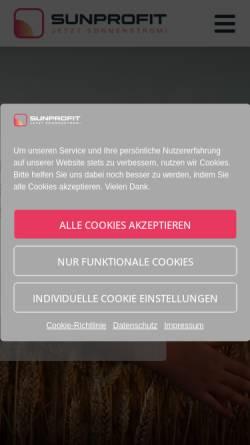 Vorschau der mobilen Webseite www.sunprofit.de, SunProfit GmbH