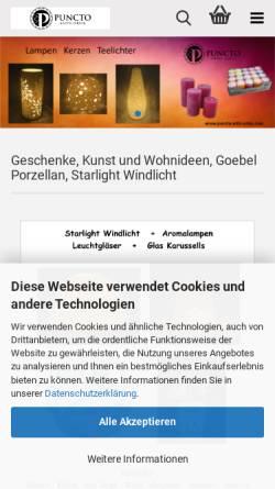 Vorschau der mobilen Webseite www.puncto-artis-orbis.com, puncto-artis-orbis