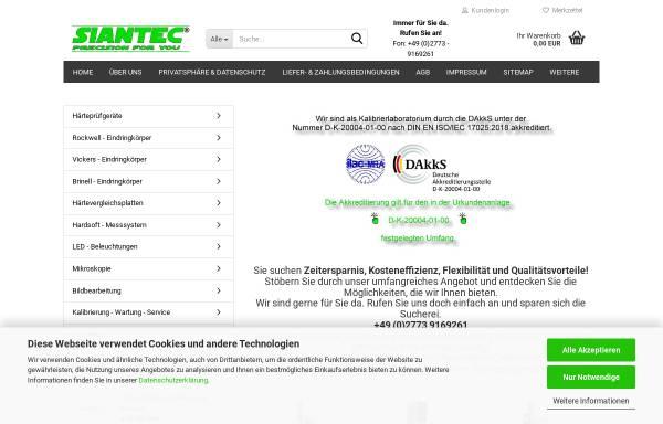 Vorschau von www.siantec.de, Siantec - Silvio Herzog e.K.