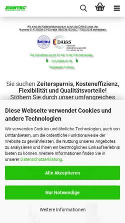 Vorschau der mobilen Webseite www.siantec.de, Siantec - Silvio Herzog e.K.