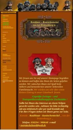 Vorschau der mobilen Webseite vondertrotzenburg.de, Rauhhaar-Kaninchenteckel von der Trotzenburg