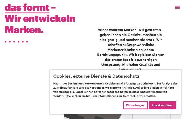Vorschau von www.dasformt.de, das formt - Büro für Kommunikation & Design GbR