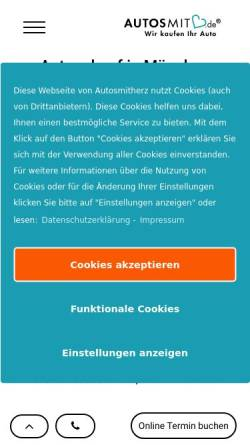 Vorschau der mobilen Webseite autosmitherz.de, Autosmitherz
