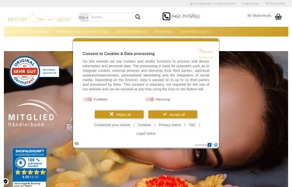 Vorschau von mysterylashes.com, Mystery Lashes