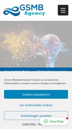 Vorschau der mobilen Webseite gsmb-agency.de, GSMB Agency GmbH